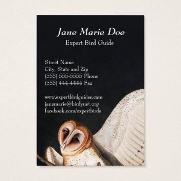 Professional Business John James Audubon Barn Owls Business Card