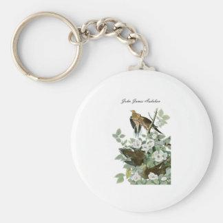 John James Audubon Carolina Pigeon Mourning Dove 1 Keychain