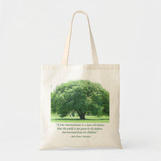 John James Audubon Tree Grocery Canvas Bag