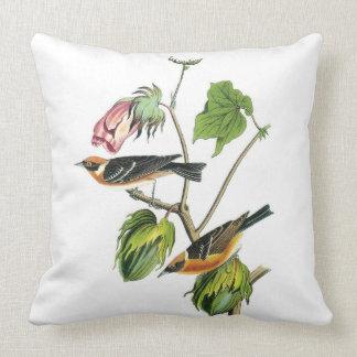 John James Audubon Warbler Pillow
