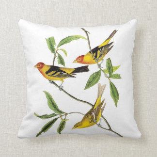 John James Audubon Yellow Tanager Pillow