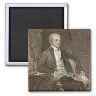 John Jay, engraved by Asher Brown Durand (1796-188 2 Inch Square Magnet