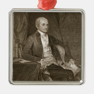 John Jay, engraved by Asher Brown Durand (1796-188 Square Metal Christmas Ornament