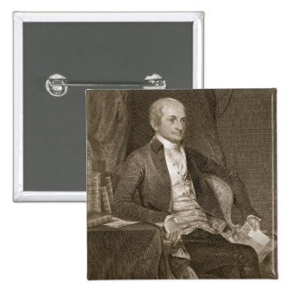 John Jay, engraved by Asher Brown Durand (1796-188 Pinback Button