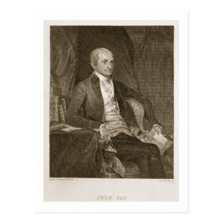 John Jay, engraved by Asher Brown Durand (1796-188 Postcard