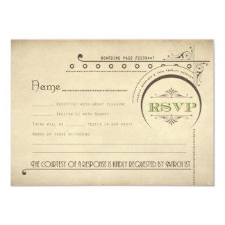 "John & Jess Get Married RSVP 4.5"" X 6.25"" Invitation Card"