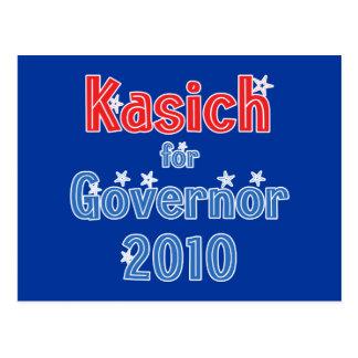 John Kasich for Governor 2010 Star Design Postcard