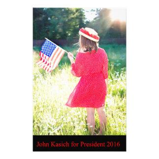 John Kasich for President 2016 Stationery