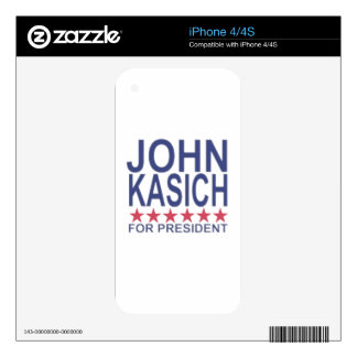 John Kasich For President ;'.png Decal For The iPhone 4S