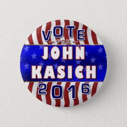 John Kasich President 2016 Election Republican Pinback Button