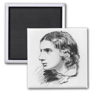 John Keats 2 Inch Square Magnet