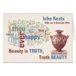 John Keats - Beauty is Truth - Grecian Urn - Art Greeting Card