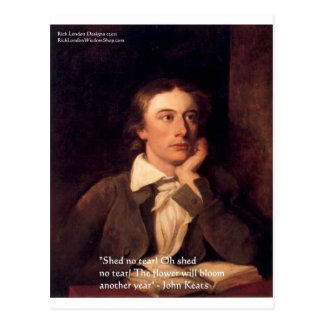 """John Keats """"Blossom"""" Quote Gifts Tees & Cards Postcard"""