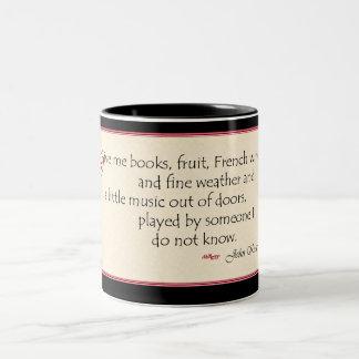 John Keats book quote mug