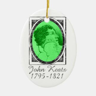John Keats Ceramic Ornament
