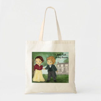 John Keats & Fanny Brawne Canvas Bags