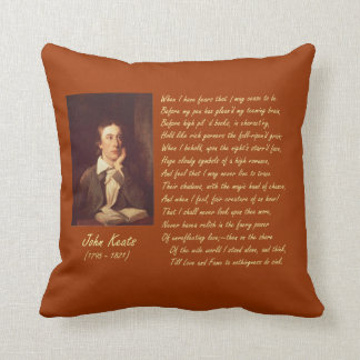 John Keats Fears Throw Pillow