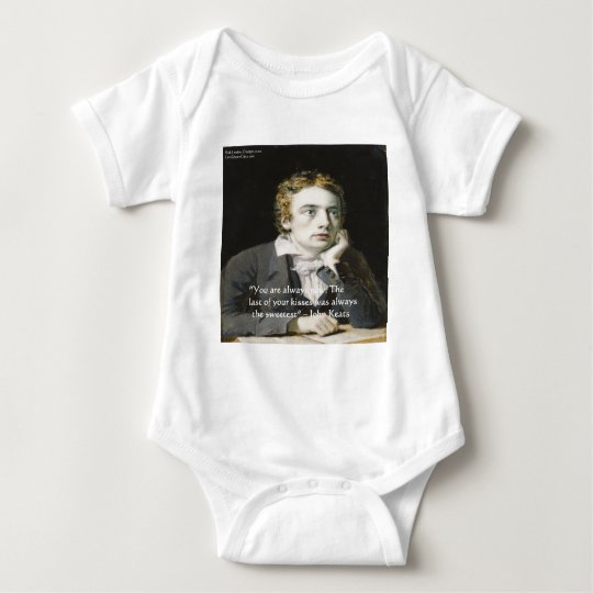 "John Keats ""Fresh Kisses"" Love Quote Gifts & Cards Baby Bodysuit"