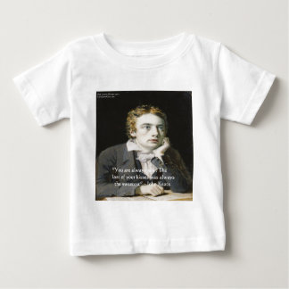"John Keats ""Fresh Kisses"" Love Quote Gifts & Cards Baby T-Shirt"