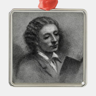 John Keats Metal Ornament