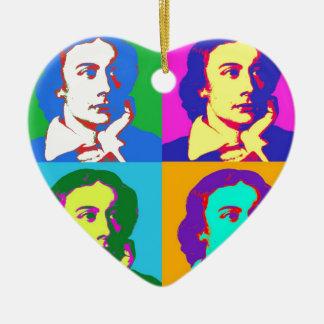 John Keats Pop Art Ceramic Ornament