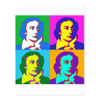 John Keats Pop Art Postcard