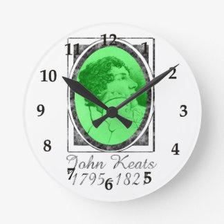 John Keats Round Clock