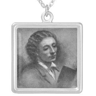 John Keats Square Pendant Necklace