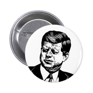 John Kennedy Pin Redondo De 2 Pulgadas