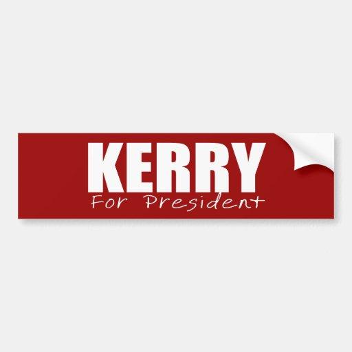 JOHN KERRY Election Gear Bumper Sticker