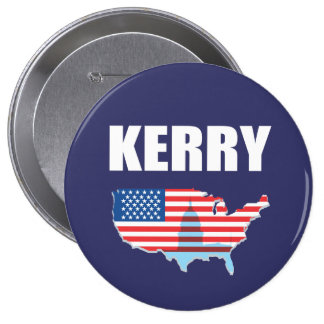 JOHN KERRY Election Gear Button