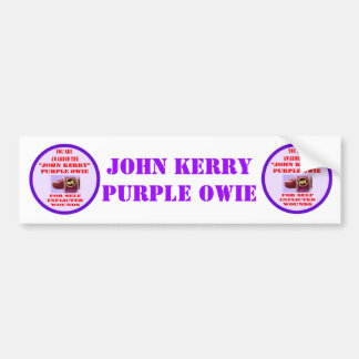 JOHN KERRY PURPLE OWIE BUMPER STICKER