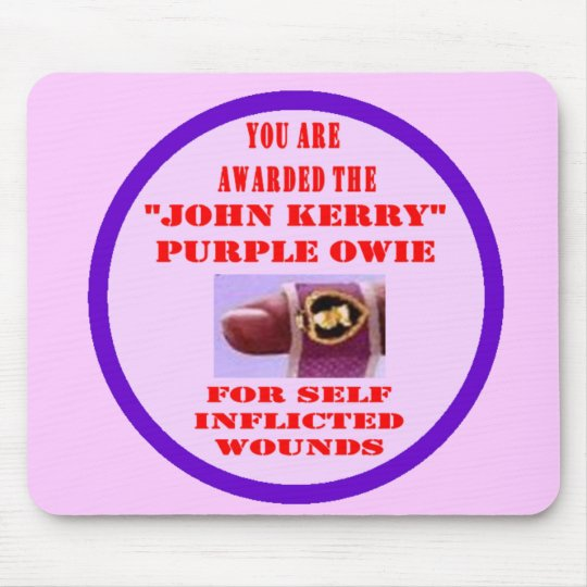 JOHN KERRY PURPLE OWIE MOUSE PAD