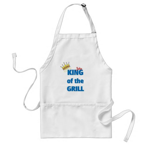 John king of the Grill Adult Apron