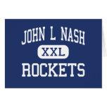 John L Nash Rockets Middle Clifton Illinois Greeting Card