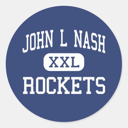 John L Nash Rockets Middle Clifton Illinois Classic Round Sticker