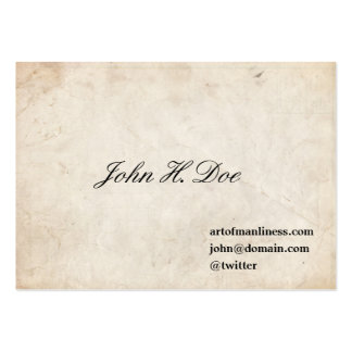 John L. Sullivan Calling Card Large Business Cards (Pack Of 100)