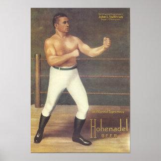 John L. Sullivan - Super Champion Vintage Poster