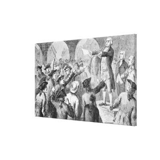 John Lamb speaking at the Sons of Liberty Meeting Canvas Print