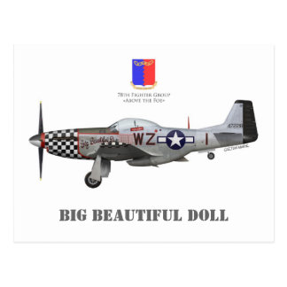 "John Lander' s P-51 ""Big Beautiful Doll "" Tarjeta Postal"