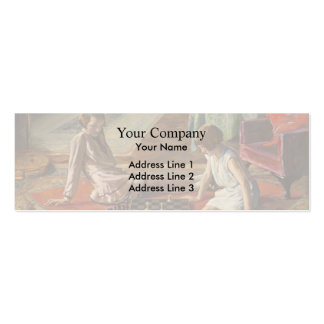 John Lavery: The Chess Players Business Card Template