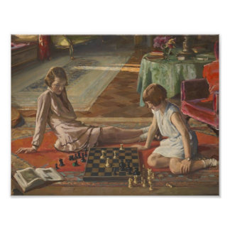 John Lavery: The Chess Players Print
