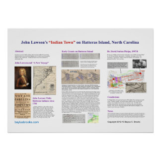 """John Lawson's """"Indian Town"""" on Hatteras Island, NC Poster"""