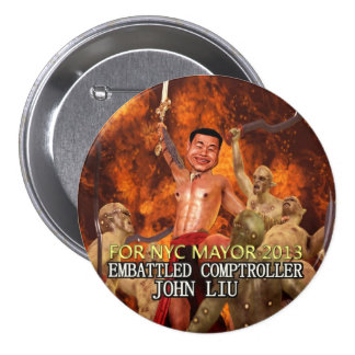 John Liu Embattled Comptroller NYC Mayor 2013 Button
