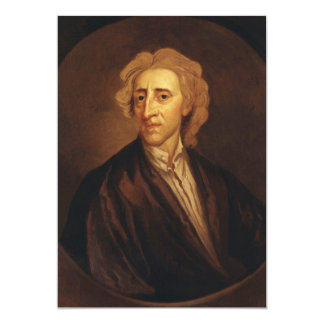 John Locke by Sir Godfrey Kneller 5x7 Paper Invitation Card
