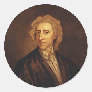 John Locke by Sir Godfrey Kneller Classic Round Sticker