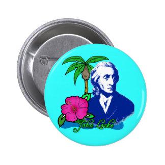 John Locke en una isla desierta Pin Redondo De 2 Pulgadas
