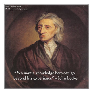 John Locke Experience/Knowledge Quote Poster