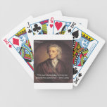 John Locke Knowledge/Experience Quote Bicycle Poker Deck