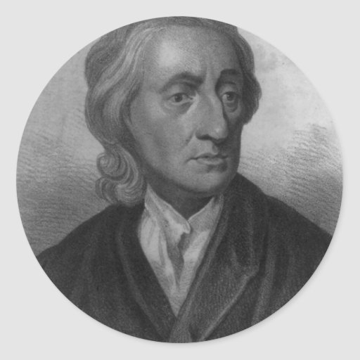 John Locke Pegatina Redonda